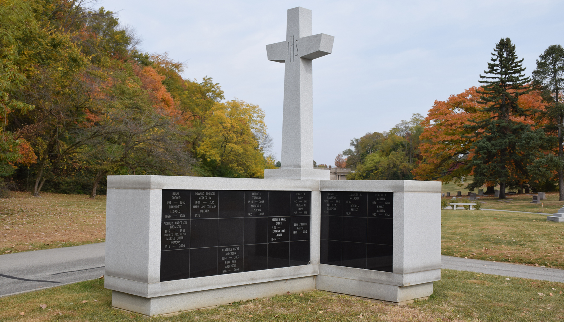 cross columbarium memorial garden