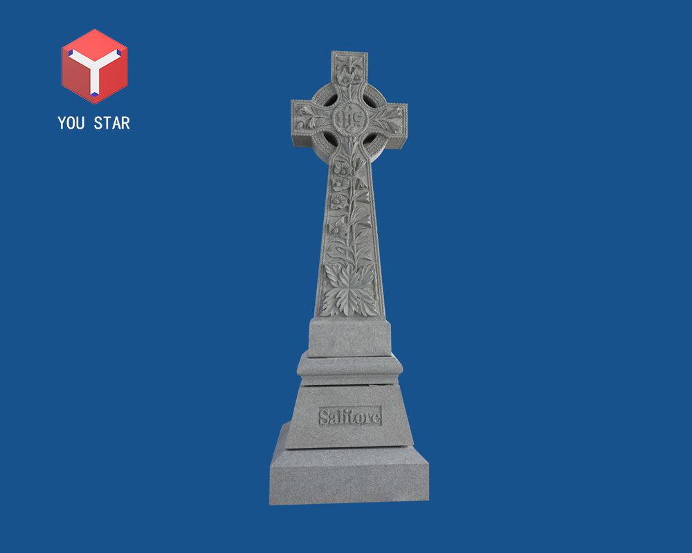 Memorial headstone cross
