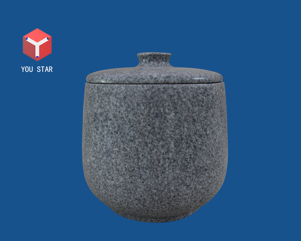 China Gray granite funeral urn