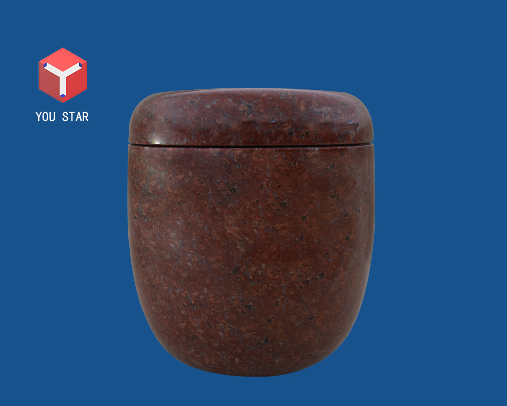 Imperial Red cremation urn